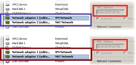 Configurare il NAT su VmWare ESX e ESXi per PfSense