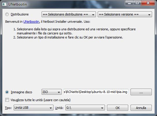 Installare Distribuzione Ubuntu su Acer Aspire One AOA 110 - Ab