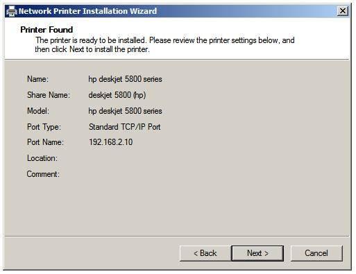 Aggiungere una stampante di rete ad un Print Server Windows 2008 usando l'Auto-Detect