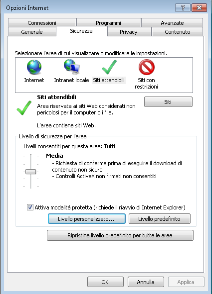 VBScript per Modificare in Automatico il Custom Level di Internet Explorer