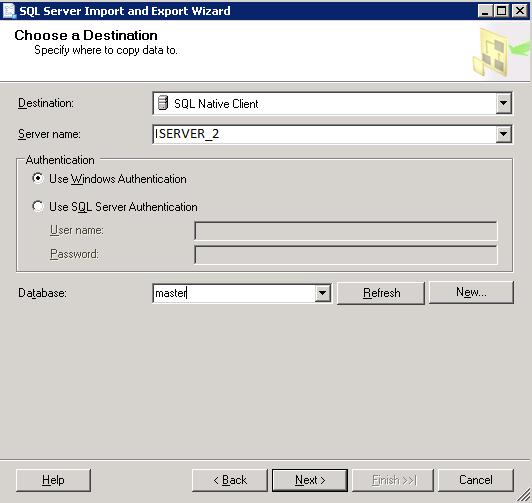 Importare un Database da Microsoft SQL Server 2000 a Microsoft SQL Server 2005