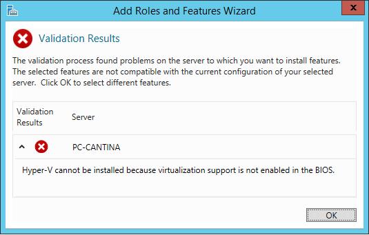 Installare Hyper-V in Microsoft Windows Server 2012 R2