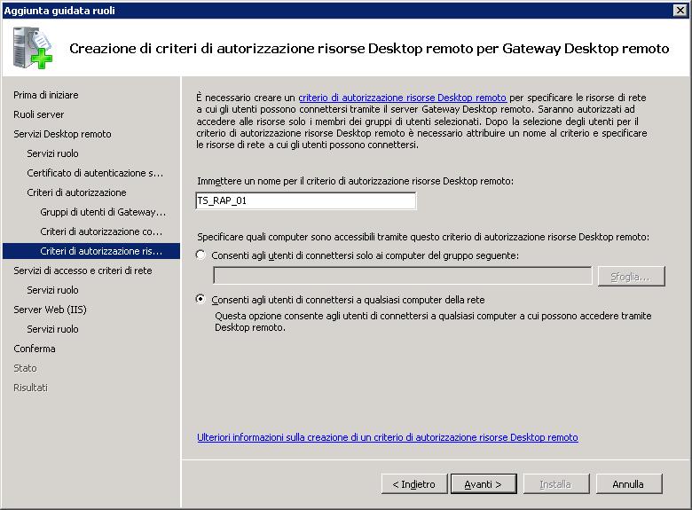 Configurare la connessione RDP ad un server Microsoft con certificato SSL (TLS 1.0)