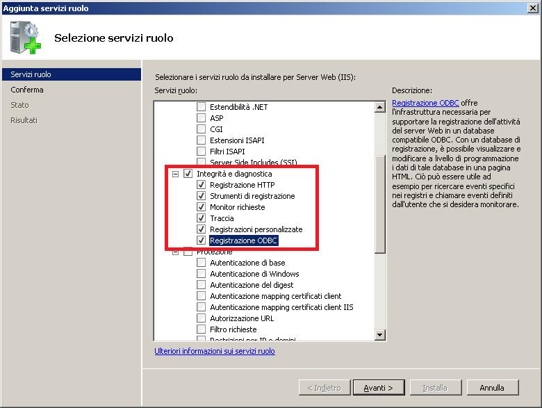 IIS Virtual SMTP non scrive i log su disco in Windows Server 2008