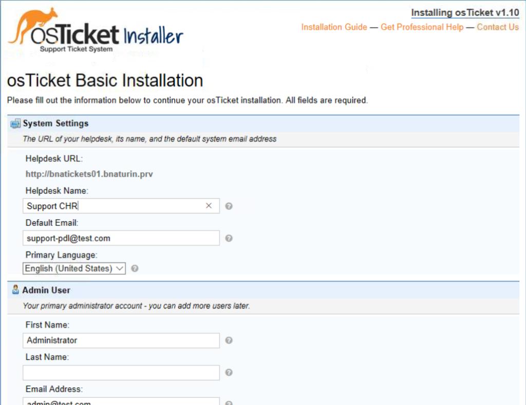 Installazione e Configurazione osTicket v1.10 su Linux Server Ubuntu 16.04
