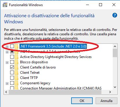 Attivare .NET Framework 3.5 in Windows 10 senza connessione internet (Errore Installazione: 0x800F0906, 0x800F081F, 0x800F0907)