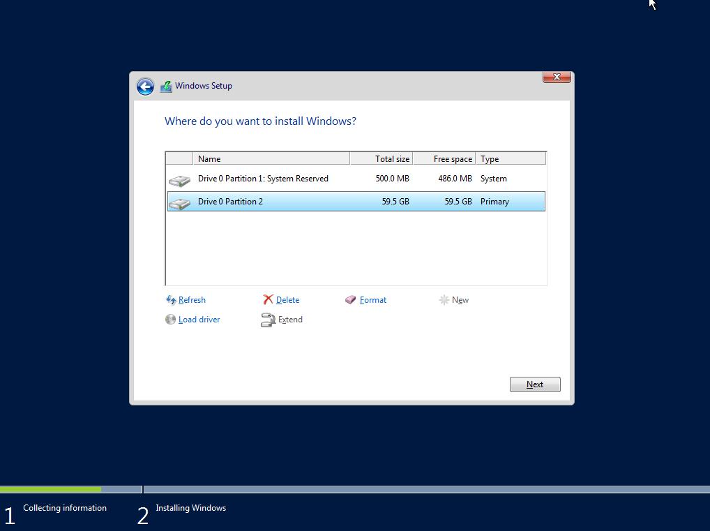 Installazione Base di Microsoft Windows Server 2016