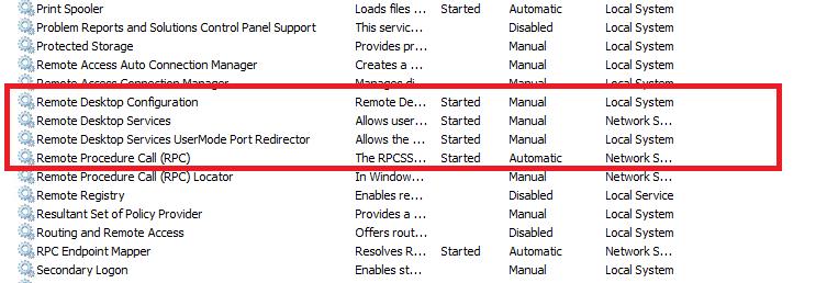 RDP Microsoft Windows Server 2008 R2 non risponde sulla porta 3389