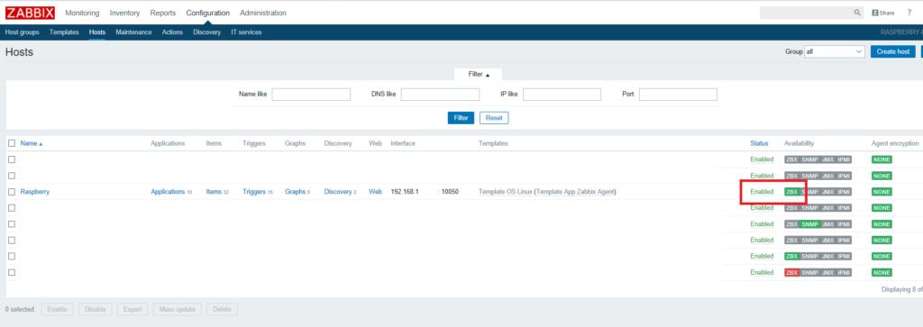 Installazione e configurazione dell'Agent di Zabbix su Raspberry