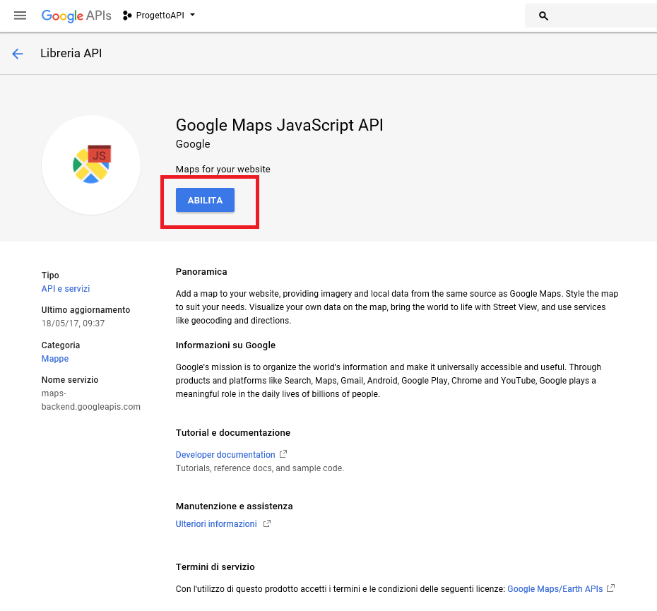 Integrare phpIPAM con Google Maps javaScript API per visualizzare le Mappe nelle Locations