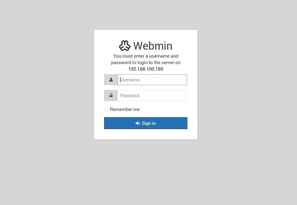 Installazione di Webmin su Raspberry