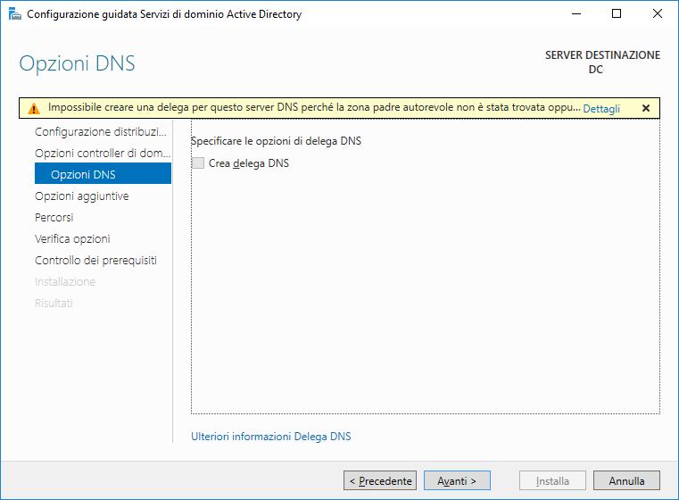Installazione e Configurazione di un Domain Controller in Microsoft Windows Server 2016