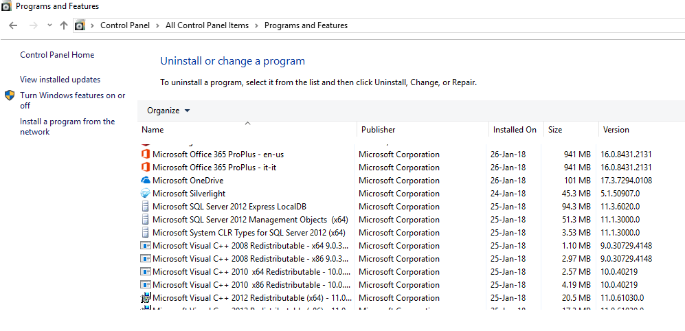 Errore Office 365 - Office 16 Click-to-Run Extensibility Component 64-bit Registration
