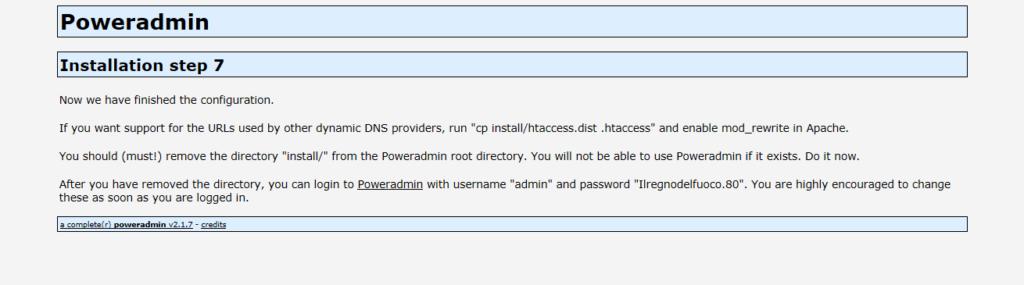 Installazione del Front-End Web PowerAdmin per PowerDNS su Raspberry