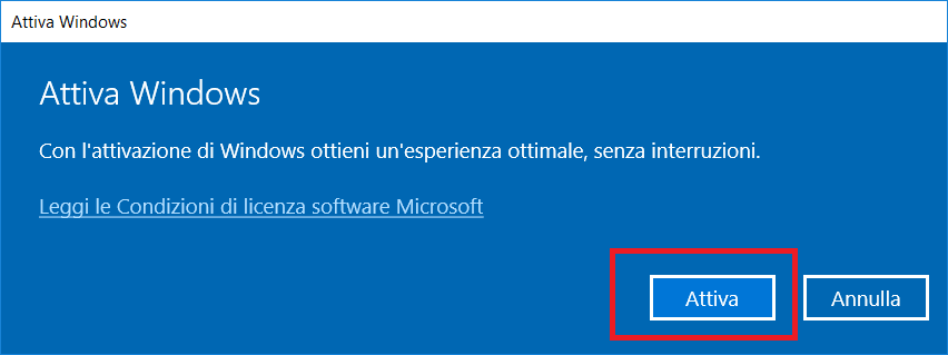 Errore In Windows 10 - La Licenza di Windows sta per scadere