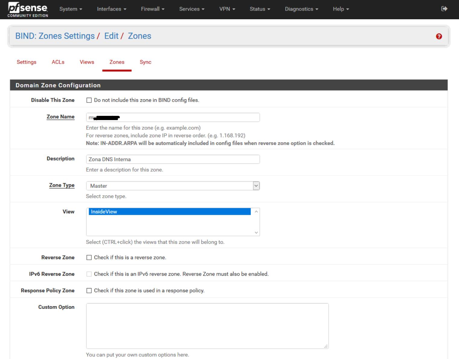 Installazione e Configurazione di BIND DNS su pfSense