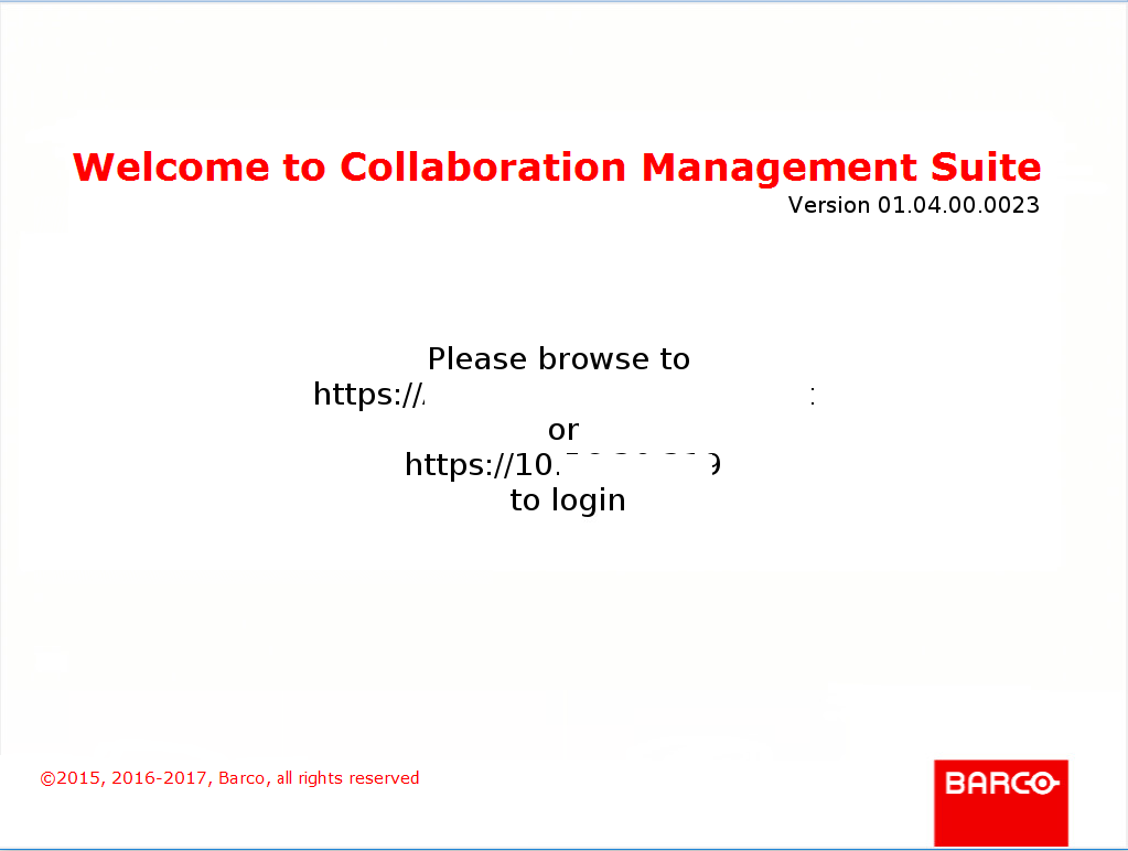 Installazione e Configurazione Base del Barco Collaboration Management Suite