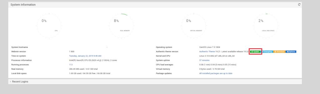 Installazione e Configurazione di Webmin in Centos 7