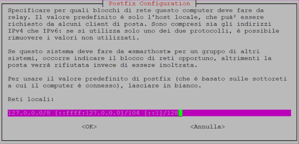 Installazione del Mail Server Postfix su Ubuntu Server 16.04