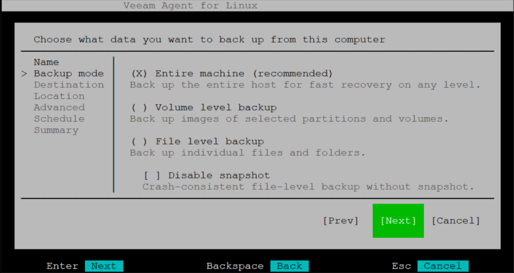 Installazione e Configurazione del Veeam Agent per Linux su Ubuntu Server 16.04