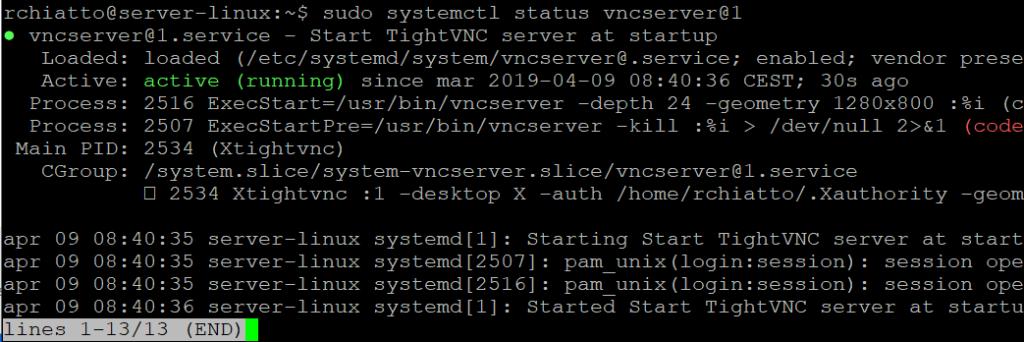Installazione di VNC su Ubuntu Server 16.04