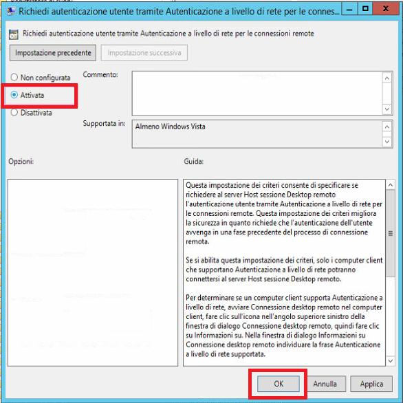 CVE-2019-0708 - Vulnerabilità legata all'esecuzione di codice in modalità remota in Servizi Desktop remoto