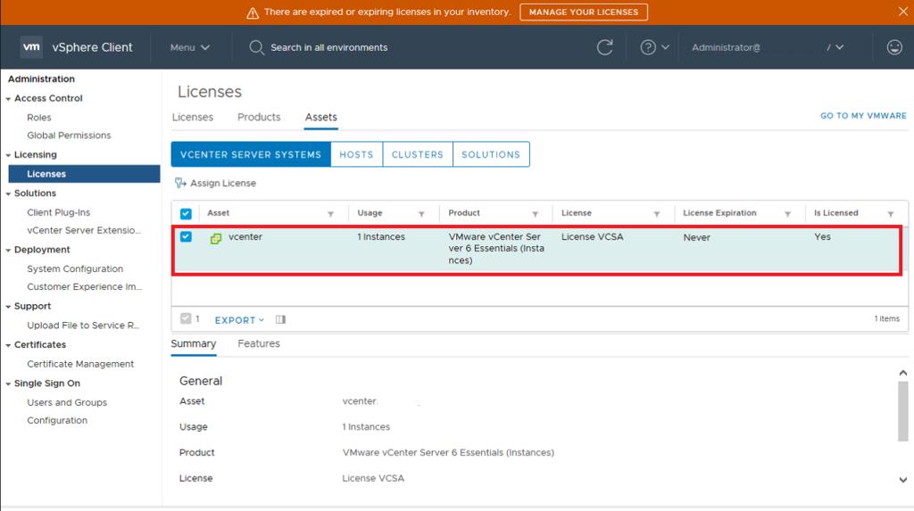 Installazione e Configurazione del vCenter Server Appliance 6.7.0