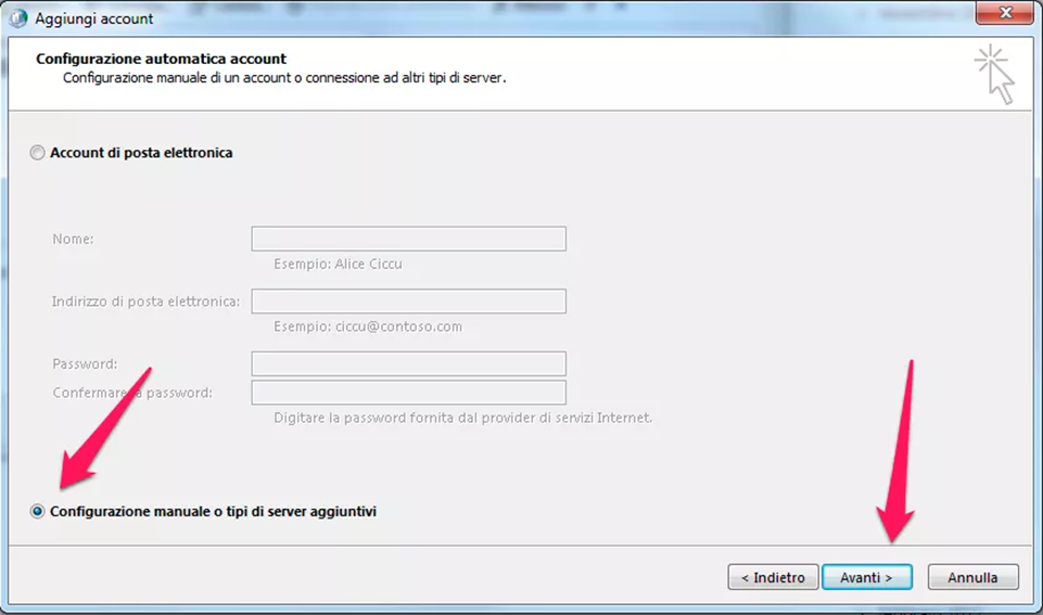 Configurazione di un account Office 365 su Microsoft Outlook 2013