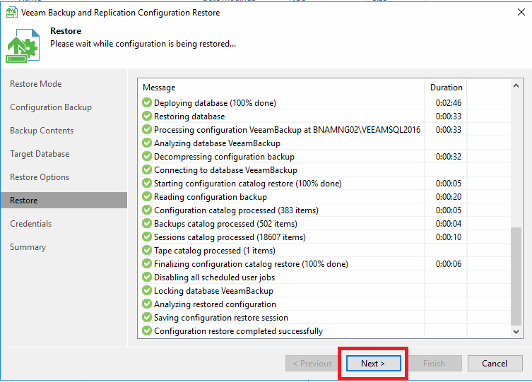 Migrazione di Veeam Backup & Replication 9.5 da un Server Windows 2008 R2 ad un Server Windows 2016