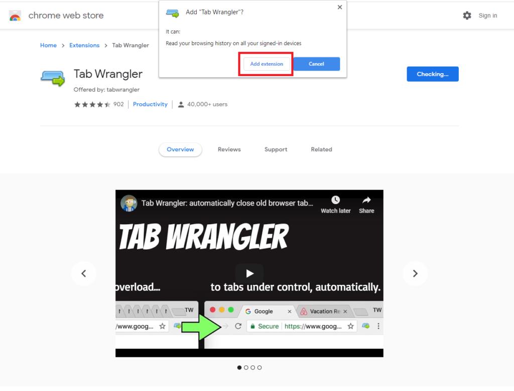 Chiudere Automaticamente i Tabs di Chrome dopo un determinato periodo di tempo