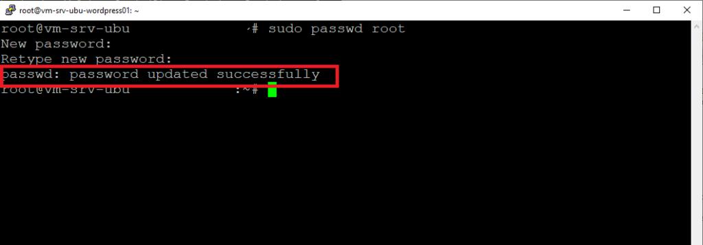 Abilitare la console SSH per l'utente Root in Ubuntu Server