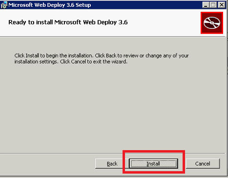 Installazione di Microsoft Web Deploy 3.6 su Windows Server 2003 o Superiore