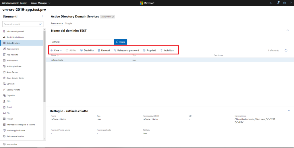 Installazione E Configurazione Di Un Domain Controller In Microsoft Windows Server 2019 tramite Windows Admin Center e Server Manager