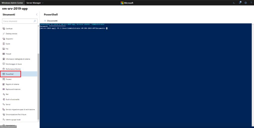 Installazione E Configurazione Di Un Domain Controller In Microsoft Windows Server 2019 Core tramite Windows Admin Center e Powershell