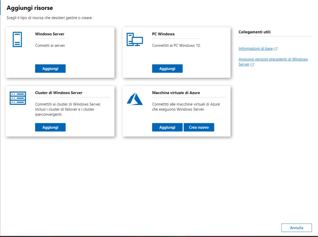 Installazione di Windows Admin Center su Windows 10