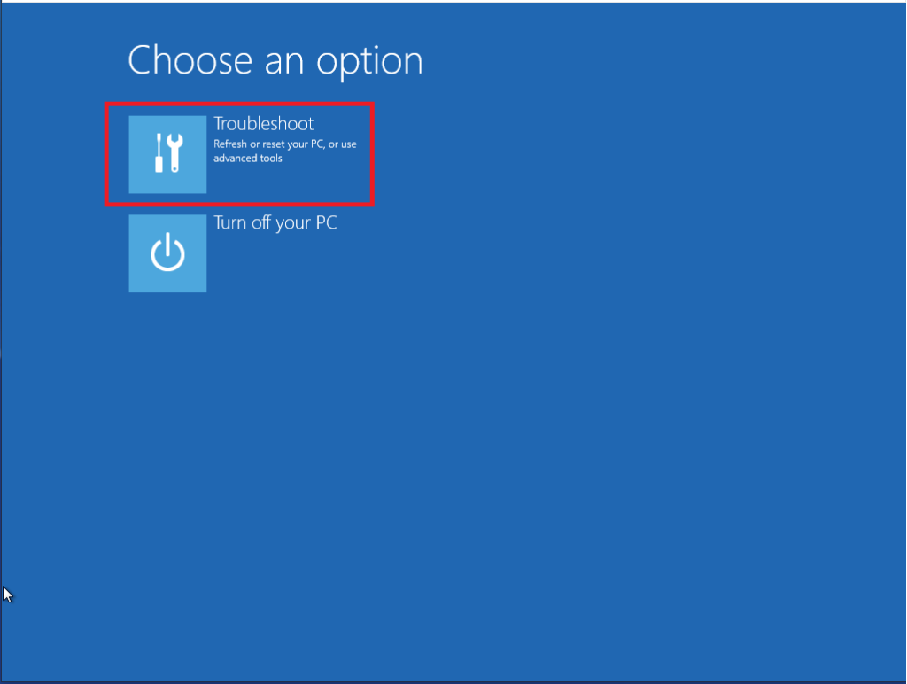 Reset della password dell'utente Administrator in Windows Server 2012 R2