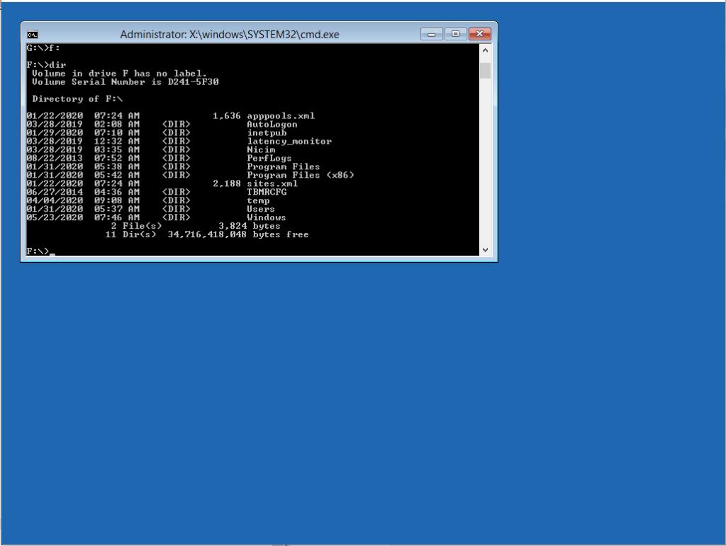 Reset della password dell'utente Administrator in Windows Server 2012 R2