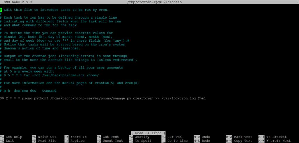 Installazione e Configurazione del Password Manager PSONO su Ubuntu Server 18.04