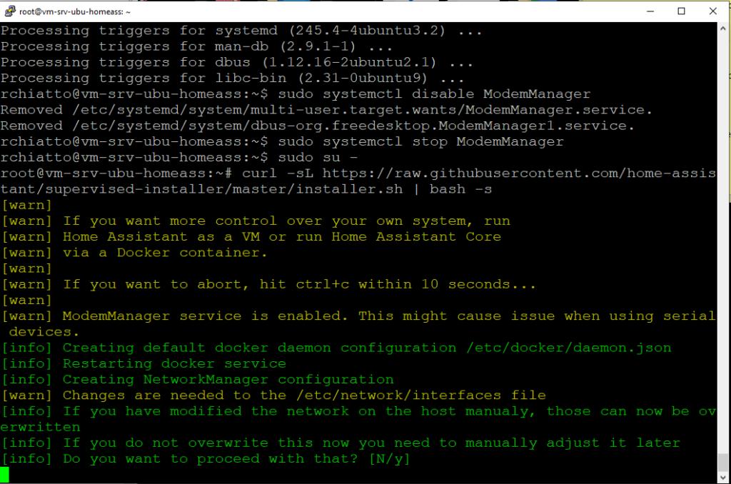 Installazione e Configurazione Base di Home Assistant su Ubuntu Server 20.04