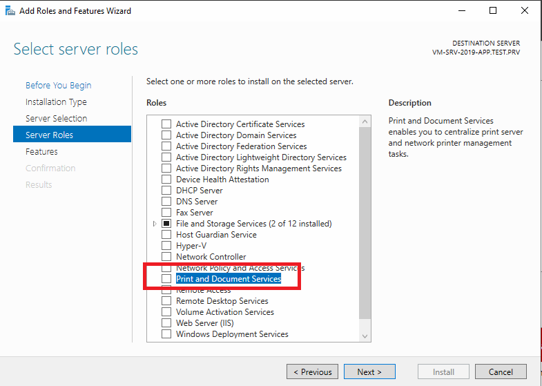 Installazione e Configurazione Base del Print Server su Microsoft Windows Server 2019