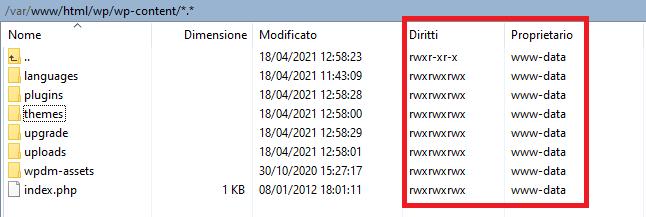 Errore Wordpress: L'aggiornamento non può essere installato perchè non è stato possibile copiare alcuni file.