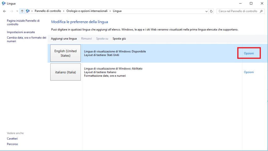 Installazione di un Language Pack su Windows Server 2016 senza connessione Internet