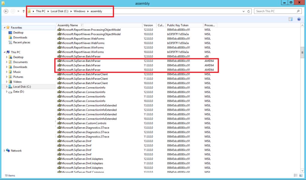 Configuration Backup in Veeam: Error Could not load file or assembly Microsoft.SqlServer.BatchParser