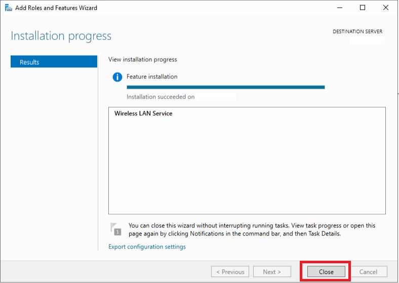 Attivazione e Configurazione del WI-FI in Microsoft Windows Server 2019